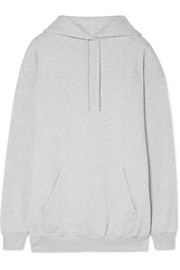 Balenciaga Oversized printed cotton-blend fleece hooded top