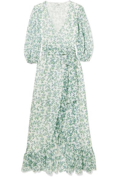 1c8b48f7de GANNI | Tilden floral-print mesh wrap dress | NET-A-PORTER.COM