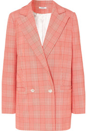 GANNI Checked cady blazer