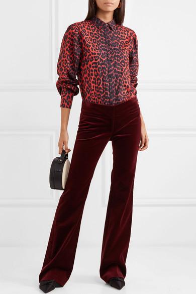 eab66a2022aa GANNI   Bijou leopard-print cotton-poplin shirt   NET-A-PORTER.COM