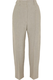Checked stretch-jersey straight-leg pants