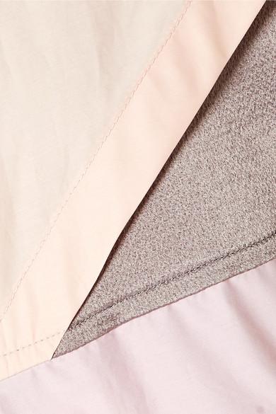 Valentino Kapuzenjacke aus Voile aus einer Baumwollmischung und gehämmertem Satin