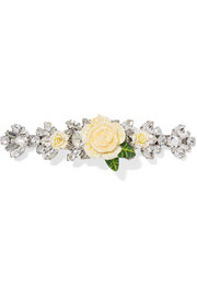 Dolce & Gabbana Silver-plated, resin and crystal hairclip