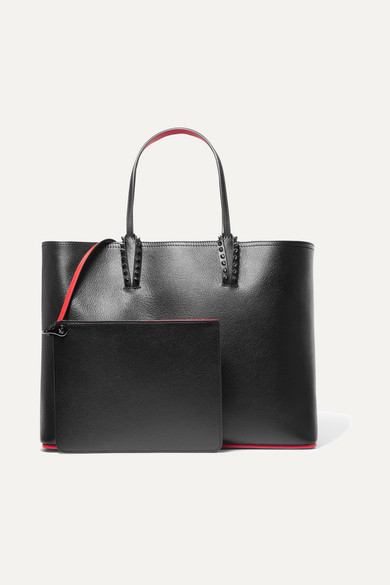 nouveau concept ae4ec 0388a Christian Louboutin | Cabata spiked textured-leather tote ...