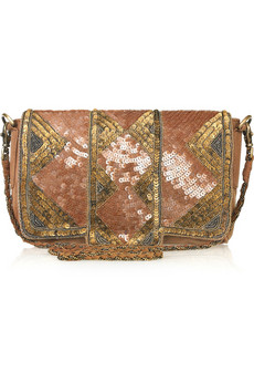 Antik Batik | Florine sequined suede shoulder bag | NET-A-PORTER.COM from net-a-porter.com