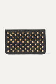 Christian Louboutin Panettone spiked textured-leather pouch