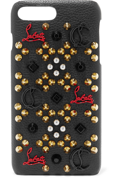 Loubiphone Embellished Leather Iphone 7 And 8 Plus Case, Black
