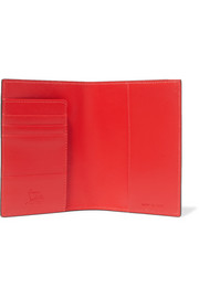 Loubipass printed textured-leather passport cover
