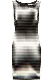 Max Mara Striped stretch-knit dress