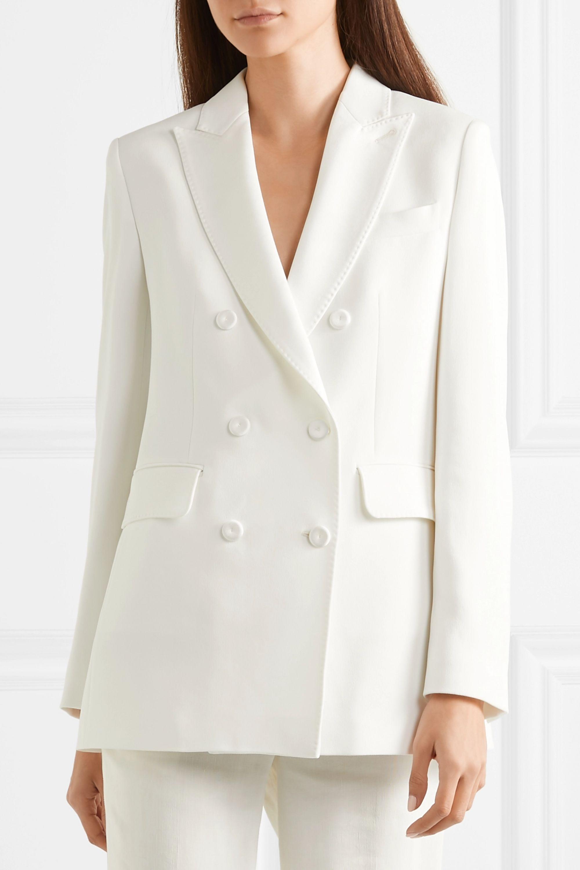 Max Mara Double-breasted crepe blazer