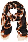 При расчетах нужно учесть, что с отвотором у лица, шарф ляжет лучше.