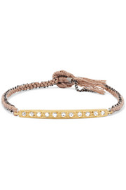 Coin 14-karat Rose Gold, Sterling Silver And Diamond Bracelet - one size Brooke Gregson