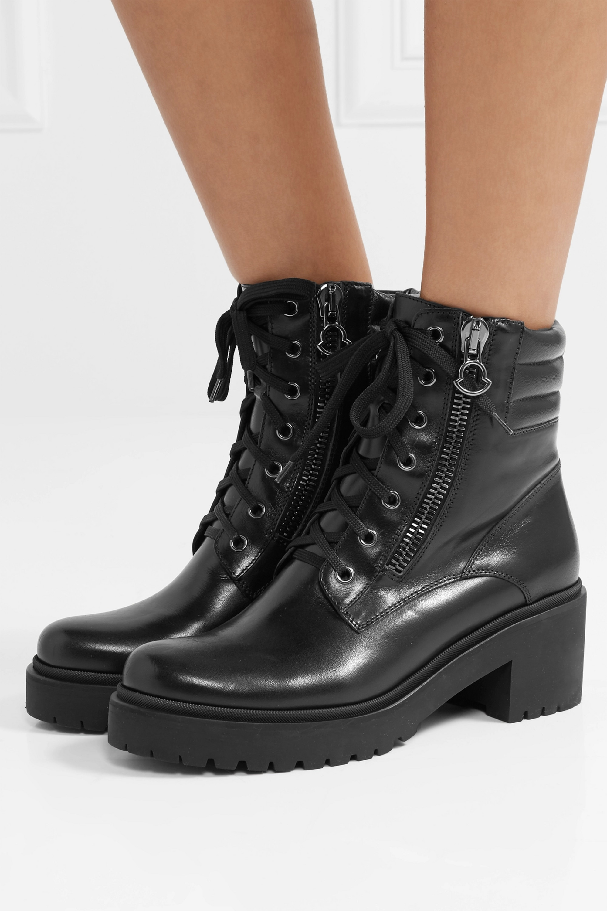 Moncler Viviane leather ankle boots