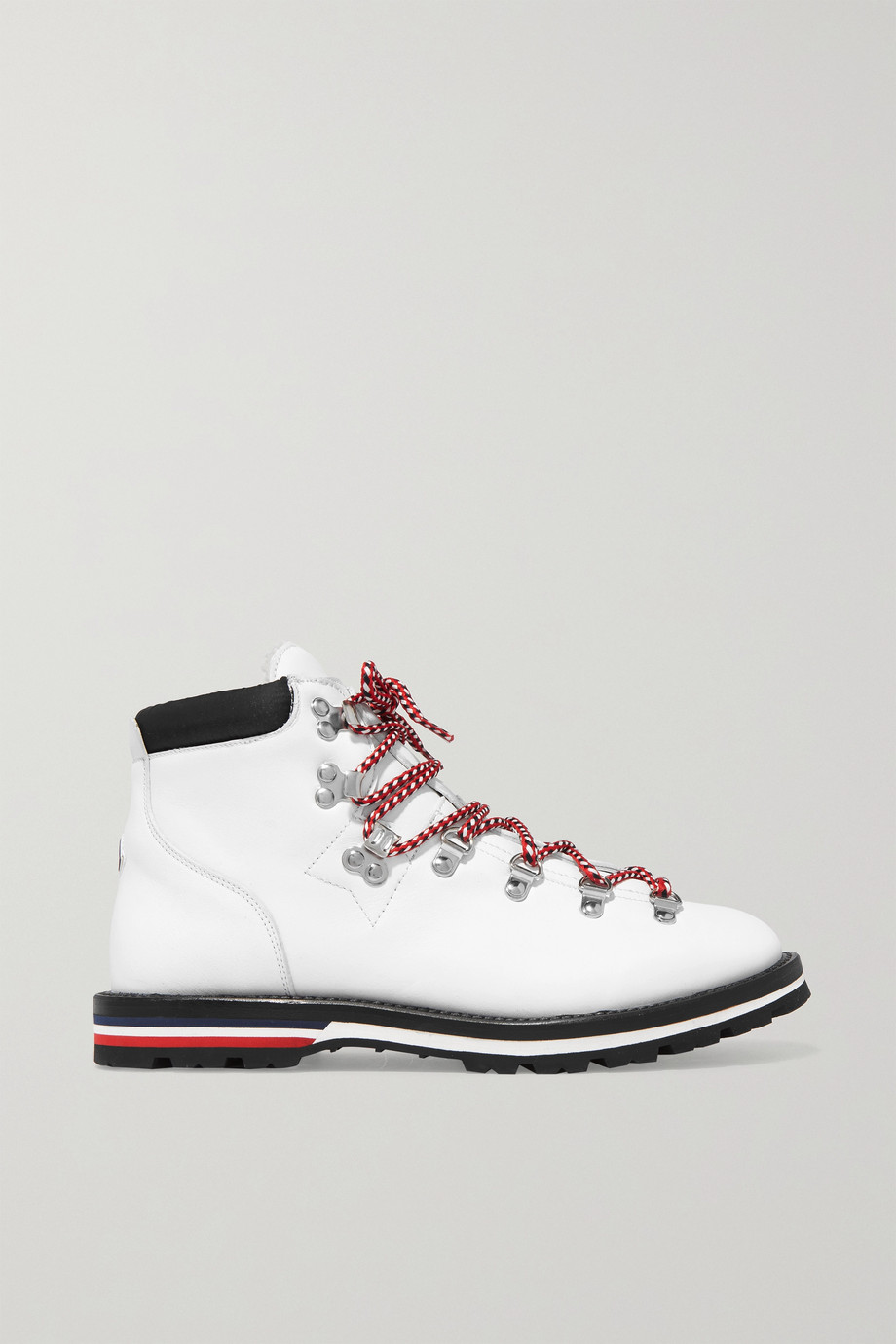 Moncler Blanche shearling-lined leather ankle boots