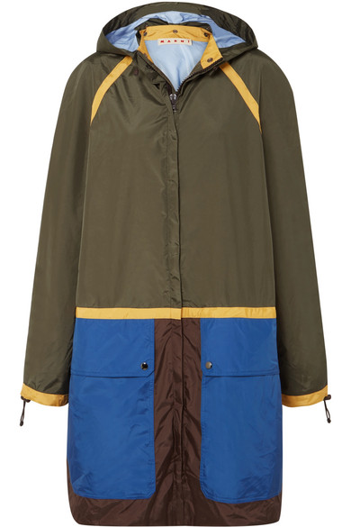 Marni - Color-block Shell Jacket - Green