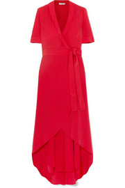 Equipment Imogene silk wrap midi dress