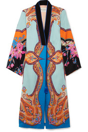 Printed satin coat