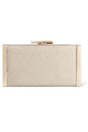 Jimmy Choo J Box glittered canvas clutch