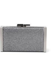 Jimmy Choo J Box Clutch aus Canvas mit Glitter-Finish