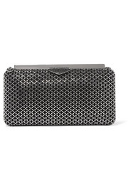 Jimmy Choo Ellipse crystal-embellished suede clutch