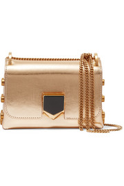 Jimmy Choo Lockett mini mirrored-leather shoulder bag