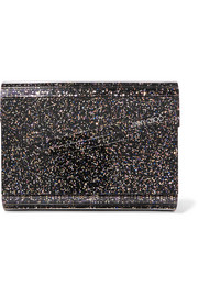 Jimmy Choo Candy Clutch aus Acryl mit Glitter-Finish