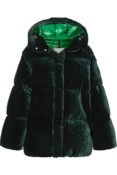 cf6bab784 Quilted velvet down jacket