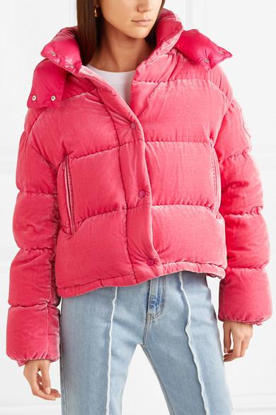 db69b7131 Moncler | Quilted velvet down jacket | NET-A-PORTER.COM