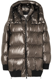 Moncler Quilted metallic shell down jacket