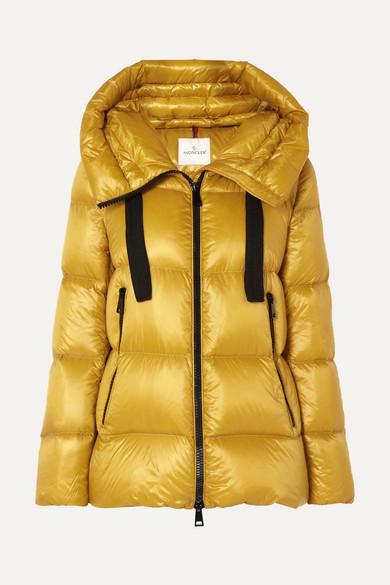 con Serin en cordón Coat Moncler amarillo W capucha Puffer XT0d0q