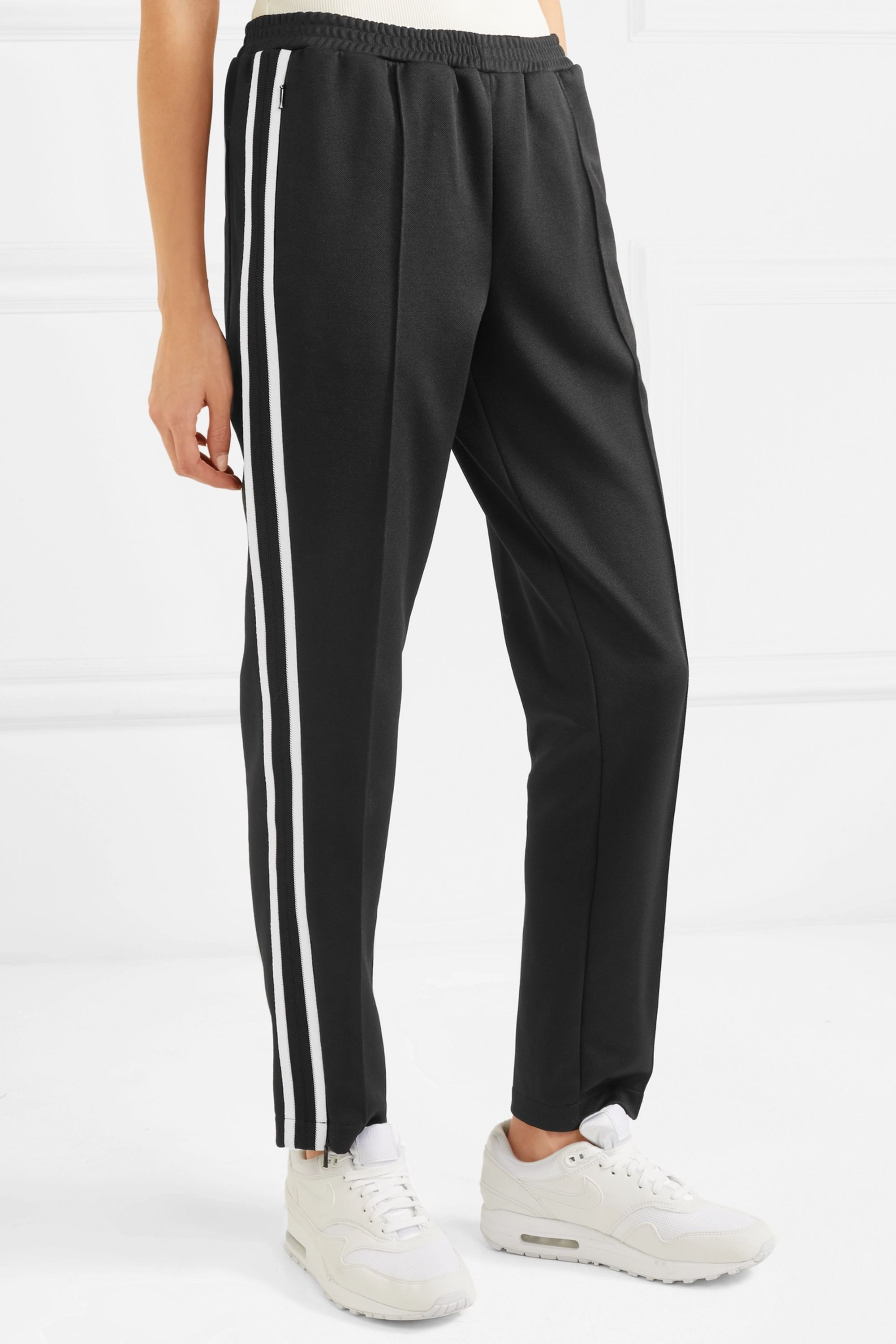 Moncler Striped jersey track pants