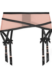 Joan microfiber suspender belt