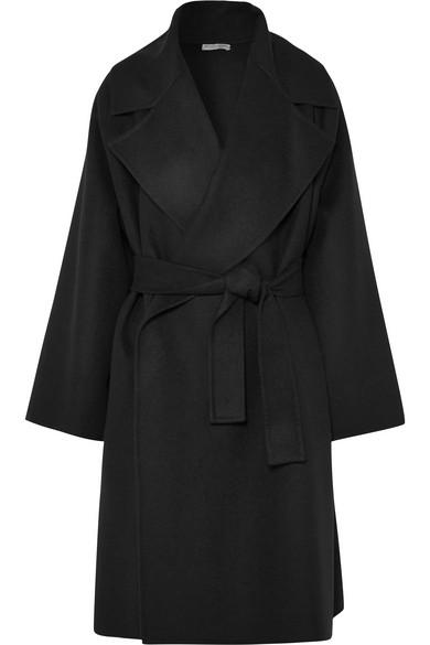 Coat Double Cachemire, Black