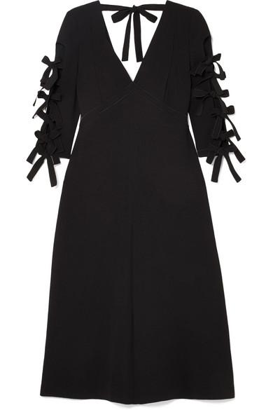 Bottega Veneta Dress Bow-detailed crepe midi dress