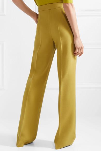 Wool-crepe Wide-leg Pants - Chartreuse Bottega Veneta Gce8w