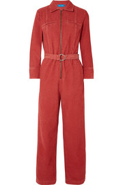 Drayson belted cotton-corduroy jumpsuit