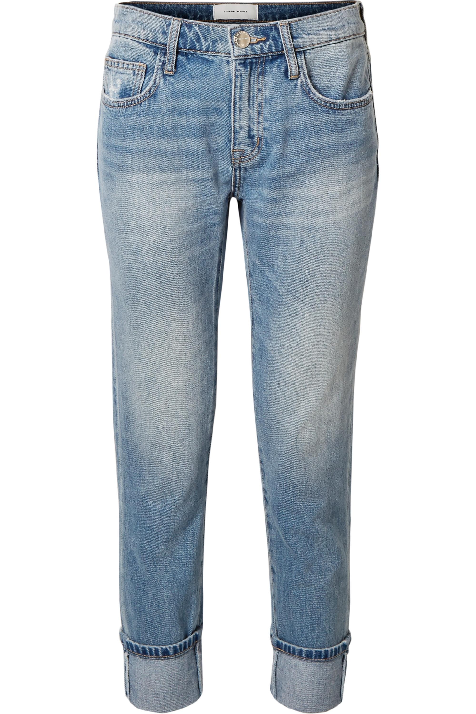 Current/Elliott The Fling distressed low-rise slim boyfriend jeans