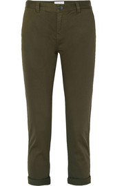 Current/Elliott The Confidant cotton-blend twill straight-leg pants