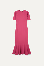 Dolce & Gabbana Fluted stretch-crepe midi dress