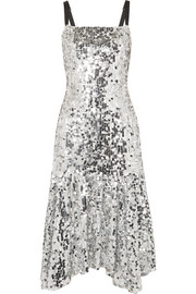 Dolce & Gabbana Paillette-embellished tulle midi dress