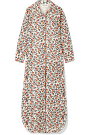Sultry floral-print cotton maxi dress