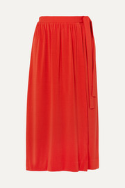 By Malene Birger Baccia crepe wrap midi skirt