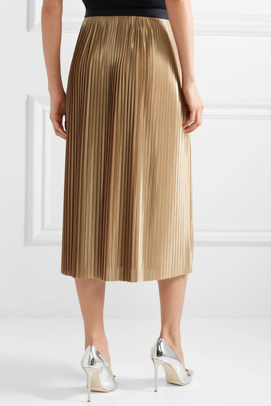 52322c288a By Malene Birger | Verlano pleated satin midi skirt | NET-A-PORTER.COM
