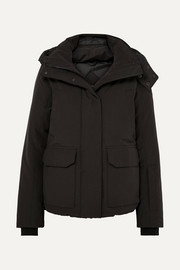 Blakely hooded quilted shell down jacket