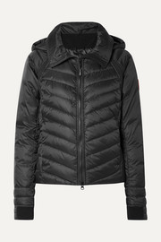 HyBridge Base hooded quilted shell down jacket