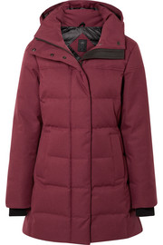 Annecy hooded quilted shell down coat