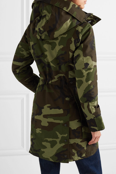 b806f3d8aa0 Canada Goose | Kinley hooded quilted camouflage-print shell down ...