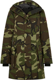 Kinley hooded quilted camouflage-print shell down parka