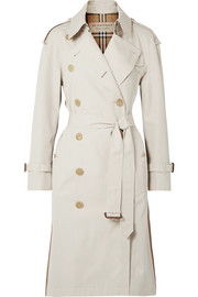 The Trecastle striped cotton-gabardine trench coat