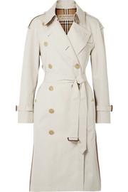 버버리 Burberry The Trecastle striped cotton-gabardine trench coat